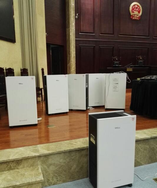 重庆某法院空气净化器展示